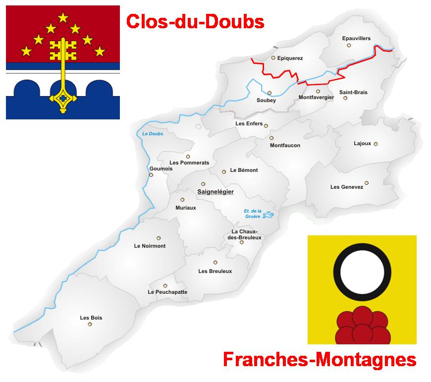 Carte franches montagnes 3